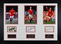 The Holly Trinity - George Best, Bobby Charlton & Denis Law signed presentation