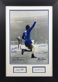George Best & Bobby Charlton Multiple Signed(x8 Signatures) 1968 European Cup Presentation